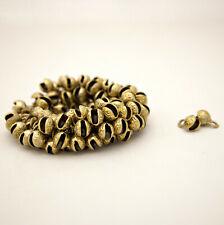 100 piece Mini Brass Bells Bulk Lot for Crafts 3/4 Inch High Single Cut Embossed