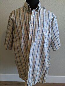 Plaid, Multicolor, Jos A. Bank short sleeved dress shirt XXL