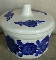 Vintage Hand Painted Ceramic Wloclawek Fajans Sugar Bowl With Lid MadeIn Poland