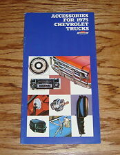 1975 Chevrolet Truck Accessories Catalog Sales Brochure 75 Chevy Pickup