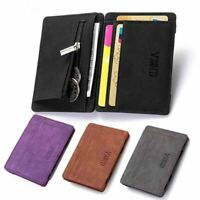 Wallet Leather Small Coin Card Key Ring Wallet Pouch Mini Purse Women Men