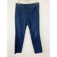 Chicos So Slimming Pull On Jeans Size 2 L 12 Pull On Skinny Ankle Length