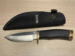 "Buck 692BKS Vanguard Fixed 4-1/4"" Blade Rubber Handle w/ Nylon Sheath USA"