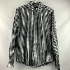 21 Men Checkers Black And White Long Sleeve ButtonDown Mens Size XS