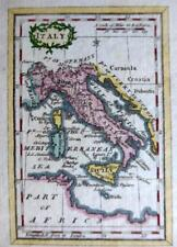 ITALY  MINIATURE COPPER  ENGRAVED MAP BY TERRY / TURNER GENUINE ANTIQUE  c1792