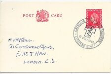GB  SPECIAL CANCEL POST CARD 9/7/62;CATHOLIC DOCTORS CONGRESS,LONDON.