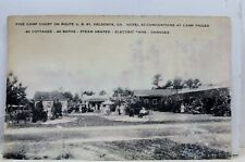 Georgia GA Valdosta Pine Camp Court Postcard Old Vintage Card View Standard Post