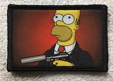 Hitman Homer Simpson Morale Patch Tactical ARMY Hook Military USA Badge Flag
