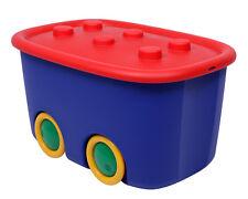 Ondis24 Spielzeugbox Funny mit Rädern Aufbewahrungsbox Kinder Sammelkiste bunt