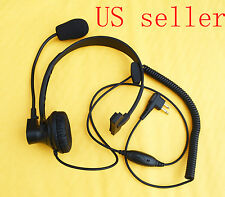 Over Head Headset/Earpiece Boom Mic For Motorola Radio CP200 CP250 CP300 GP2000