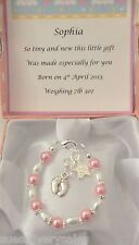 New born baby girl personalised bracelet early gift
