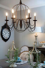 Farmhouse Chandelier Dining Lighting 6-light Candle Holder Hanging Ceiling Light