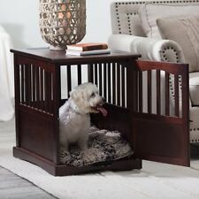Indoor Dog Crate End Table Kennel Cage Furniture Wooden Pet Pen House Bed Small