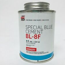 BL-8F 8OZ SPECIAL BLUE CEMENT BRUSH-IN-CAN FOR TIRE REPAIR ONLY BY REMA TIP TOP
