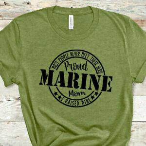 Proud Marine Mom T-Shirt, Marine Mom Gift, Gift For Marine Mom