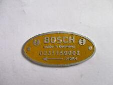 schild Bosch gelbes Typenschild  FJDR 6 Verteiler 0231159002 ID-plate S26