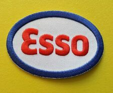 MOTOR RACING OILS, FUELS & TYRES SEW ON / IRON ON PATCH:- ESSO (a) BLUE OVAL