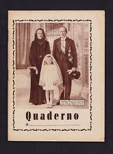 Quaderno della serie MARCONI. Anni '30. Telegrafo. Radio. Bologna. Vaticano.