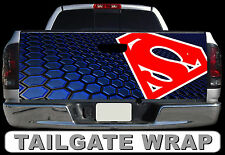 T236 SUPERMAN Tailgate Wrap Decal Sticker Vinyl Graphic Bed Cover