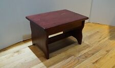 """Pick Stain, 10"""" tall 11x16 Handcrafted Heavy Duty Wooden Step Stool, Bedside Bed"""