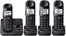 Panasonic KX-TGL433B + 1 KX-TGLA40B Handsets DECT 6.0 Plus Cordless Phone System