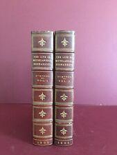 Life of Michelangelo Buonarroti J. A. Symonds 1901 2 V Fine Binding Stikeman