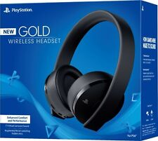 Sony PlayStation Gold Wireless Headset 7.1 Surround Sound PS4 - NEW