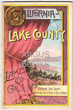 1888 LAKE COUNTY CALIFORNIA COLOR LITHOGRAPH COVER LAND PROMOTIONAL