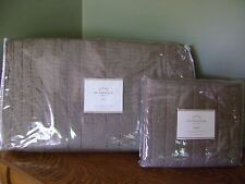 Pottery Barn Silk Channel Two Toned QUILT & SHAM Brownstone TWIN ~ NEW WITH TAGS
