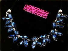 Betsey Johnson Blue Rhinestone fashion sexy Pendant Necklace