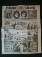 POLICE NEWS (8 PAGES) NEWSPAPER FORMED , SENSATIONAL PAGES JACK THE RIPPER 1888