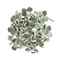 200Pcs Heart Glue on Bail for Earring Bails & Glass Pendants Charms Crafts