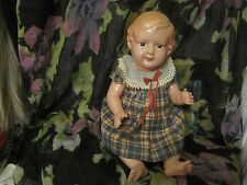 Vintage Royal  250 made in Japan Celluloid Doll molded hair in original dress