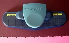 FISKARS UPPER CREST Continuous Border Punch Scrapbook NEW