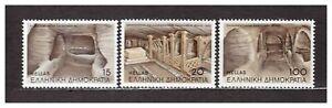 s31107) GREECE 1985 MNH** Nuovi** Milos catacombs 3v