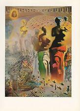 """1976 Vintage SALVADOR DALI """"HALLUCINOGENIC TOREADOR"""" COLOR Art Print Lithograph"""