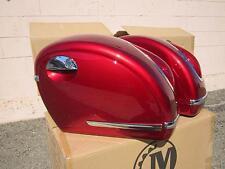 Mutazu Burgundy Red MU Universal Motorcycle Hard Saddlebags fits most Cruisers