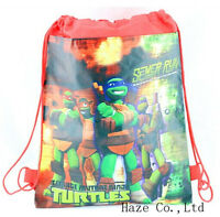 Teenage Mutant Ninja Turtles Kids Backpack Environmental toy Drawstring bag AAA*