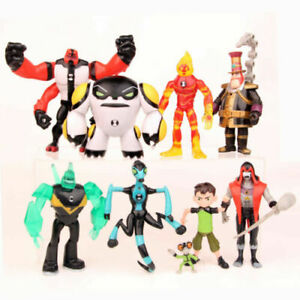 9PCS Lot Ben 10 Cartoon PVC Action Figures Doll Play Set Cake Topper Kid Boy Toy
