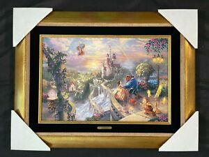 Rare! Thomas Kinkade, Disney - Beauty & the Beast 8x27 Limited Edition Canvas