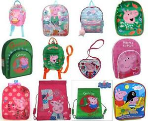 Peppa Pig Girls Boys Rucksack, Backpack, Reins Bag