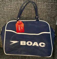 2  Vintage BOAC  Flight Bags