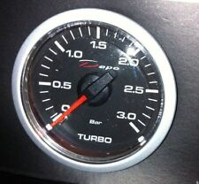 Manometro Pressione Turbo Turbina 0 + 3 bar tuning DEPO Racing Nero Diesel