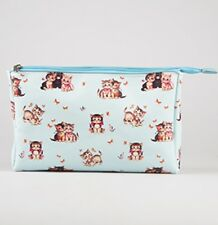 Large Retro Kitten Cosmetic Case Wash Bag Toiletry Holdall Cat Lovers Gifts