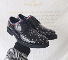 Classic Mens Rivet Lace Up Casual Cow Leather Shoes Spike Brogue Pumps Ths01