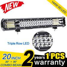 20 Inch 5D 144W LED Work Light Bar Flood Spot Combo Offroad Truck SUV Boat Lamp~
