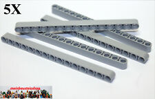 5X Lego® 32278 / 64871 Technic Liftarme Beams 1X15 neues Hellgrau Gray NEU