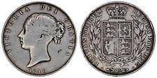 1846 Victoria halfcrown silver coin of Great Britain