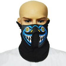 Sound activate Led Light Up Flashing Halloween Party Costume Mask US SELLER