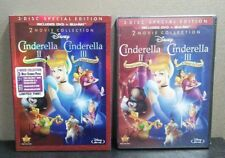 Authentic Disney: Cinderella ll & Cinderella lll (Blu-ray + DVD) w/Slipcover NEW